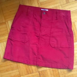 Old Navy Red Corduroy Skirt